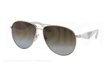 Prada TRIANGLE PR53QS Sunglasses ZVN6E1-60 - Oro Pallido Frame, Polar Grey Gradient Brown Lenses