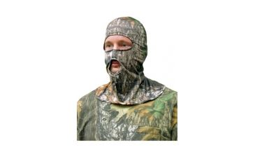 Primos Hunting Stretch-Fit Face Mask, Full Hood, Mossy Oak New Break Up 6228