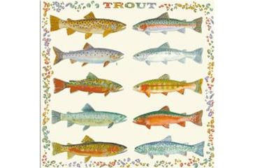 Printed Image National Park-Nature Collection Bandana, Trout 511567