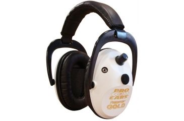 Pro-Ears Predator Gold Ear Muffs, White