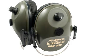 Pro Ears Pro 300 Wind Abatement Hearing Protection NRR 26dB Behind Head Earmuffs Green