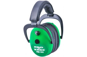 Pro Ears Pro 300 Wind Abatement Hearing Protection NRR 26dB Headset, Neon Green P300NG