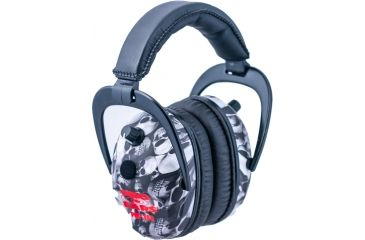 Pro Ears Pro 300 Wind Abatement Hearing Protection NRR 26dB Headset, Skulls P300SK