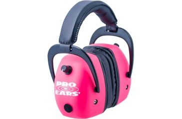Pro-Ears Pro Mag Gold Hearing Protection Headset, Pink