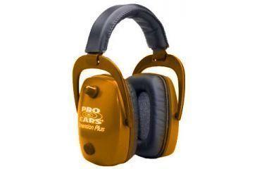 Pro-Ears Pro Slim Gold Electronic Earmuffs, Orange