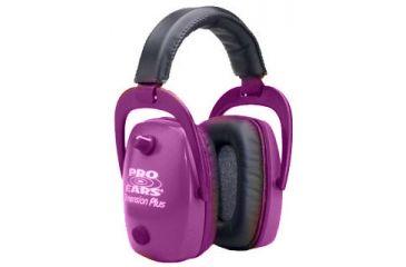 Pro-Ears Pro Slim Gold Electronic Earmuffs, Pink