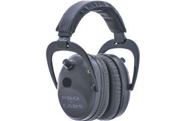 Pro Ears Pro Tac Plus Gold Low Profile NRR 26 Over The Head Earmuffs, Black w/ Lithium Batteries