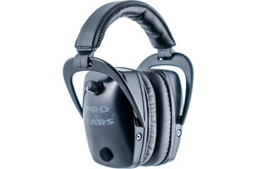 Pro Ears Pro Tac Plus Gold Slim Medium Profile NRR 28 Headset, Black w/ Lithium Batteries