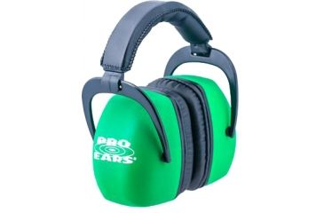 Pro-Ears Ultra Pro Headset, Neon Green PE-UP-NG