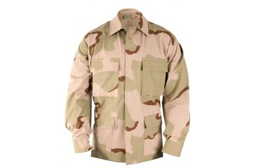 Propper BDU 4-Pocket Coat, 50/50 NYCO Ripstop, Choose Size Size Large-Short, Choose Color 3-Color Desert
