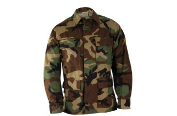 Propper BDU 4-Pocket Coat, 60/40 Cotton/Poly Twill, Choose Size Size Extra Small-Regular, Choose Color Woodland