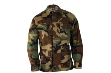 Propper Genuine Gear BDU 4-Pocket Coat, 60/40 Cotton/Poly Ripstop, Choose Size Size Medium-Long, Choose Color Woodland
