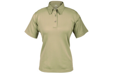 Propper Women's I.C.E. Performance Polo Short Sleeve Shirt, Silver Tan, Medium Regular F532772226M