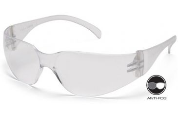 Pyramex 4100 Series Safety Glasses - Clear-Hardcoated Anti-fog Lens, Clear Frame S4110ST