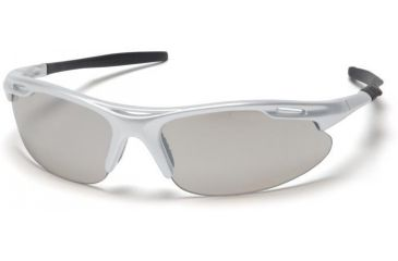 Pyramex Avante Safety Glasses - Indoor/Outdoor Mirror Lens, Silver Frame SS4580D