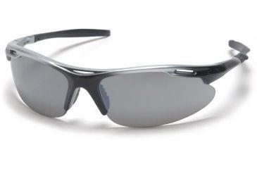 Pyramex Avante Safety Glasses - Silver Mirror Lens, Silver Black Frame SSB4570D