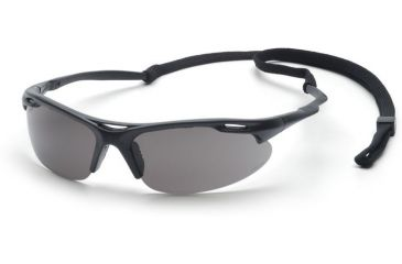 Pyramex Avante Safety Eyewear - Black Frame and Gray Lens with Cord SB4520DP 12-Pack