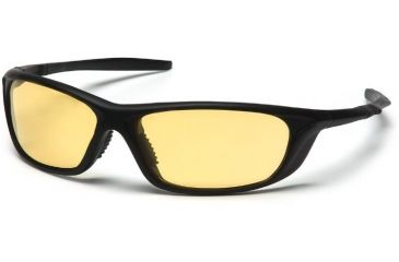 Pyramex Azera Safety Glasses - Amber Lens, Black Frame SB4430D