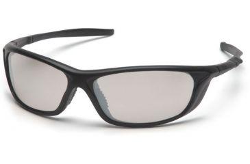 Pyramex Azera Safety Glasses - Indoor/Outdoor Mirror Lens, Black Frame SB4480D
