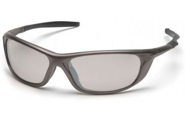 Pyramex Azera Safety Glasses - Indoor/Outdoor Mirror Lens, Pewter Frame SP4480D