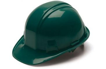 Pyramex Cap Style 4 Point Ratchet Suspension Hard Hat - Green HP14135
