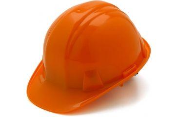 Pyramex Cap Style 4 Point Ratchet Suspension Hard Hat - Orange HP14140, 16 Pack