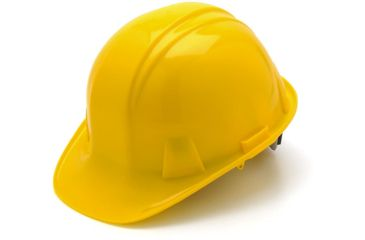 Pyramex Cap Style 4 Point Ratchet Suspension Hard Hat - Yellow HP14130