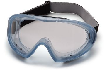 Pyramex Capstone Goggles with Blue Anti-Fog Lens Direct/Indirect Frame GN504T