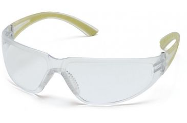Pyramex Cortez Safety Glasses - Clear Lens, Apple Temples Frame SA3610S