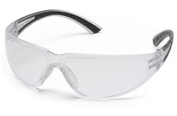 Pyramex Cortez Safety Glasses - Clear Lens, Black Temples Frame SB3610S