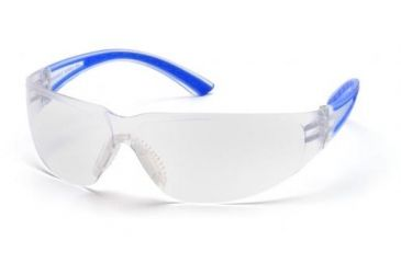 Pyramex Cortez Safety Glasses Clear Lens Navy Temples Frame Sn3610s 12 Pack
