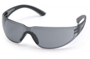 Pyramex Cortez Safety Glasses - Gray Lens, Black Temples Frame SB3620S, 12 Pack