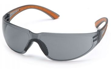Pyramex Cortez Safety Glasses - Gray Lens, Orange Temples Frame SO3620S