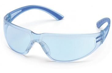 Pyramex Cortez Safety Glasses - Infinity Blue Lens, Navy Temples Frame SN3660S