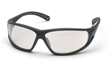 Pyramex Escape Safety Glasses - Indoor/Outdoor Mirror Lens, Black Frame SB3880D