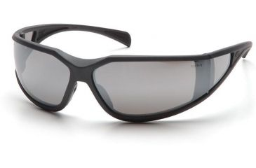 Pyramex Exeter Safety Eyewear - Silver Mirror Anti-Fog Lens, Charcoal Gray Frame SCG5170DT, 12 Pack