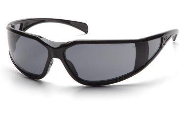 Pyramex Exeter Safety Glasses - Gray Anti-Fog Lens, Glossy Black Frame SB5120DT