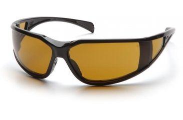 Pyramex Exeter Safety Glasses - Shooter's Amber Anti-Fog Lens, Glossy Black Frame SB5133DT
