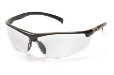 Pyramex Forum Safety Glasses - Black Frame, Clear Lens