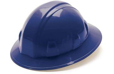 Pyramex Full Brim 6 Point Ratchet Suspension Hard Hat - Blue HP26160