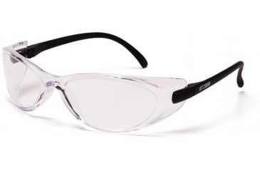 Pyramex GT 2000 Safety Glasses - Clear Lens, Black Temples Frame SB2010S