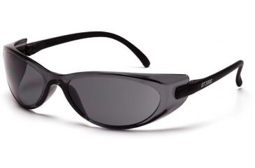Pyramex GT 2000 Safety Glasses - Gray Lens, Black Temples Frame SB2020S