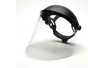 Pyramex Helmet Faceshield - Clear PETG, 8x15in, .040 thick, Shield Only - Single S1010
