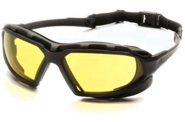 Pyramex Highlander-XP Safety Glasses, Black-Gray Frame & Amber Anti-Fog Lens SBG5030DT