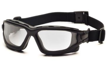 Pyramex I-Force Safety Glasses, Black Frame & Clear Anti-Fog Lens SB7010SDT