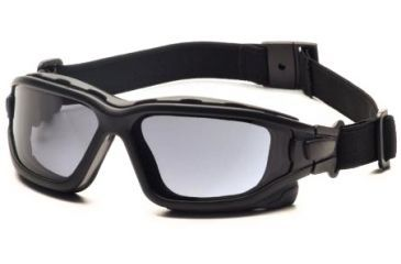 Pyramex I-Force Safety Glasses, Black Frame & Gray Anti-Fog Lens SB7020SDT