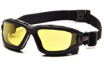 Pyramex I-Force Safety Glasses, Black Frame & Amber Anti-Fog Lens SB7030SDT