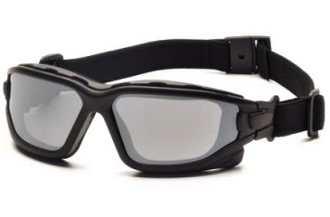 Pyramex I-Force Safety Glasses, Black Frame & Silver Mirror Anti-Fog Lens SB7070SDT