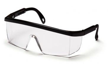 Pyramex Integra Glasses - Black-Ratchet Frame, Clear Lens