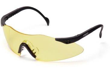 Pyramex Intrepid Safety Glasses - Amber Lens, Black Frame SB1630S